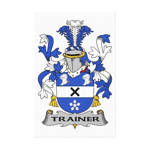 Escudo de la familia del instructor impresión en lona estirada