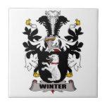 Escudo de la familia del invierno azulejos