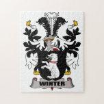 Escudo de la familia del invierno puzzle