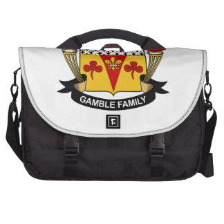 Escudo de la familia del juego bolsas para portátil
