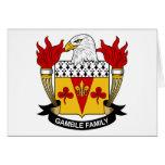 Escudo de la familia del juego felicitación