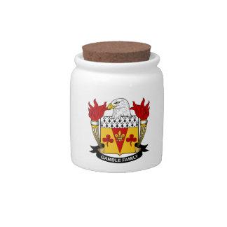 Escudo de la familia del juego jarras para caramelos