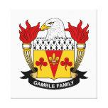 Escudo de la familia del juego impresiones en lienzo estiradas