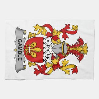 Escudo de la familia del juego toalla de cocina