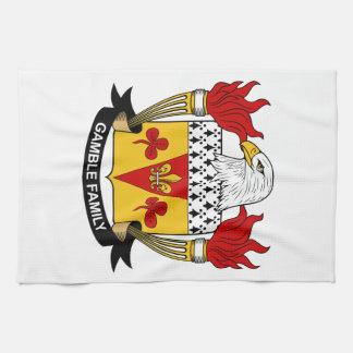 Escudo de la familia del juego toalla de mano