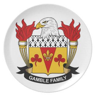 Escudo de la familia del juego platos