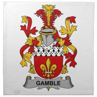 Escudo de la familia del juego servilletas