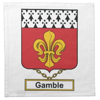 Escudo de la familia del juego servilletas imprimidas