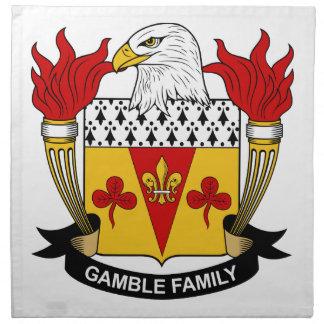 Escudo de la familia del juego servilleta imprimida