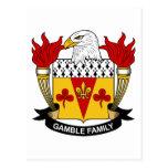 Escudo de la familia del juego tarjeta postal