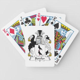 Escudo de la familia del jugador de bolos baraja cartas de poker