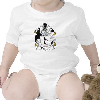 Escudo de la familia del jugador de bolos camisetas