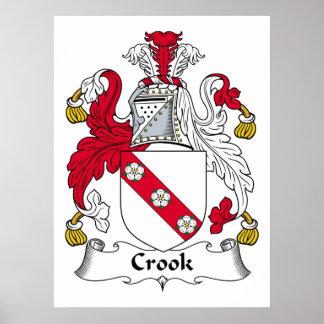 Escudo de la familia del ladrón póster