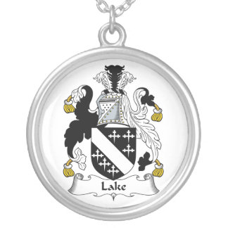 Escudo de la familia del lago colgante redondo