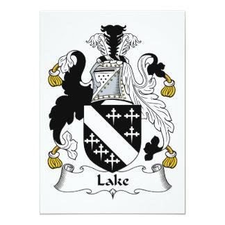 """Escudo de la familia del lago invitación 5"""" x 7"""""""