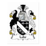 Escudo de la familia del lago postal