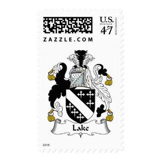 Escudo de la familia del lago sello postal