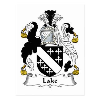 Escudo de la familia del lago tarjeta postal