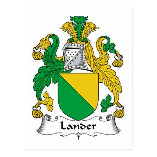 Escudo de la familia del Lander Tarjeta Postal