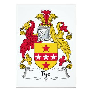 """Escudo de la familia del lazo invitación 5"""" x 7"""""""
