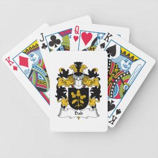 Escudo de la familia del lenguado cartas de juego