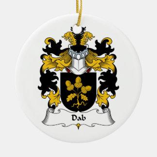 Escudo de la familia del lenguado ornaments para arbol de navidad