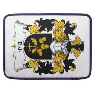 Escudo de la familia del lenguado fundas para macbook pro