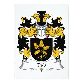 Escudo de la familia del lenguado invitación