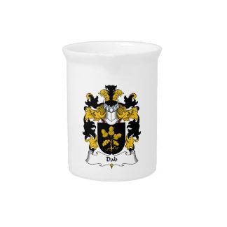 Escudo de la familia del lenguado jarras de beber
