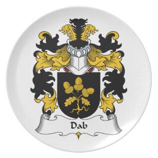 Escudo de la familia del lenguado platos