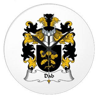 Escudo de la familia del lenguado relojes de pared