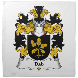 Escudo de la familia del lenguado servilleta
