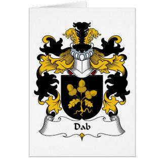 Escudo de la familia del lenguado tarjeta de felicitación