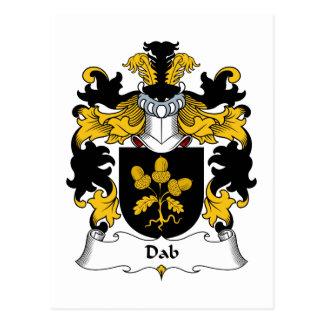Escudo de la familia del lenguado tarjeta postal