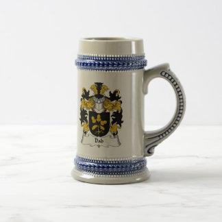 Escudo de la familia del lenguado tazas de café
