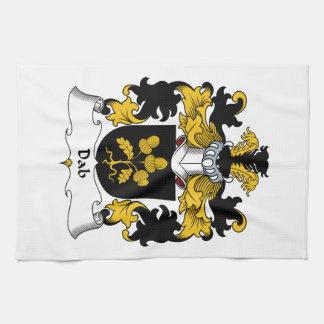 Escudo de la familia del lenguado toalla de mano