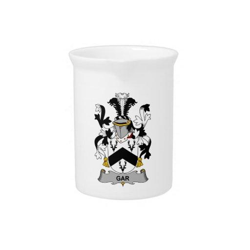 Escudo de la familia del lepisosteus jarras para bebida