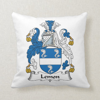 Escudo de la familia del limón almohadas