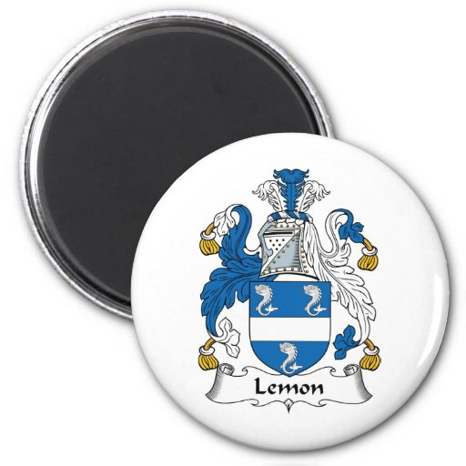 Escudo de la familia del limón imán redondo 5 cm