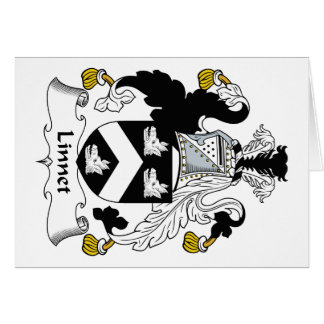 Escudo de la familia del Linnet Tarjeta De Felicitación