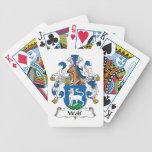 Escudo de la familia del lobo baraja cartas de poker