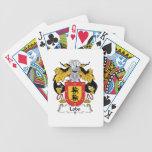 Escudo de la familia del lobo barajas de cartas