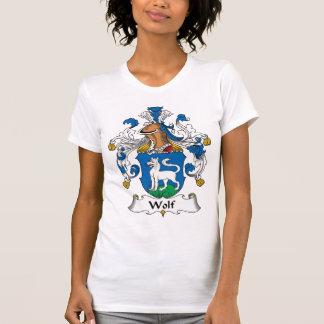 Escudo de la familia del lobo camiseta