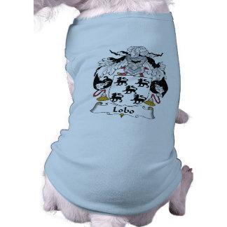 Escudo de la familia del lobo camisa de mascota