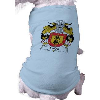Escudo de la familia del lobo prenda mascota