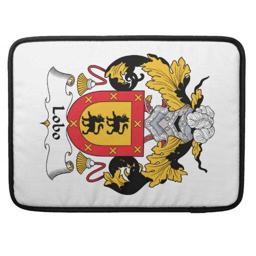 Escudo de la familia del lobo funda para macbook pro