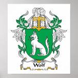 Escudo de la familia del lobo posters