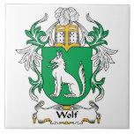 Escudo de la familia del lobo teja cerámica