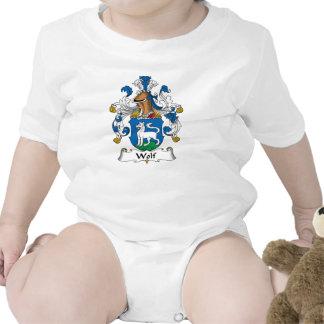 Escudo de la familia del lobo trajes de bebé
