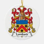 Escudo de la familia del lombardo ornamentos de reyes magos